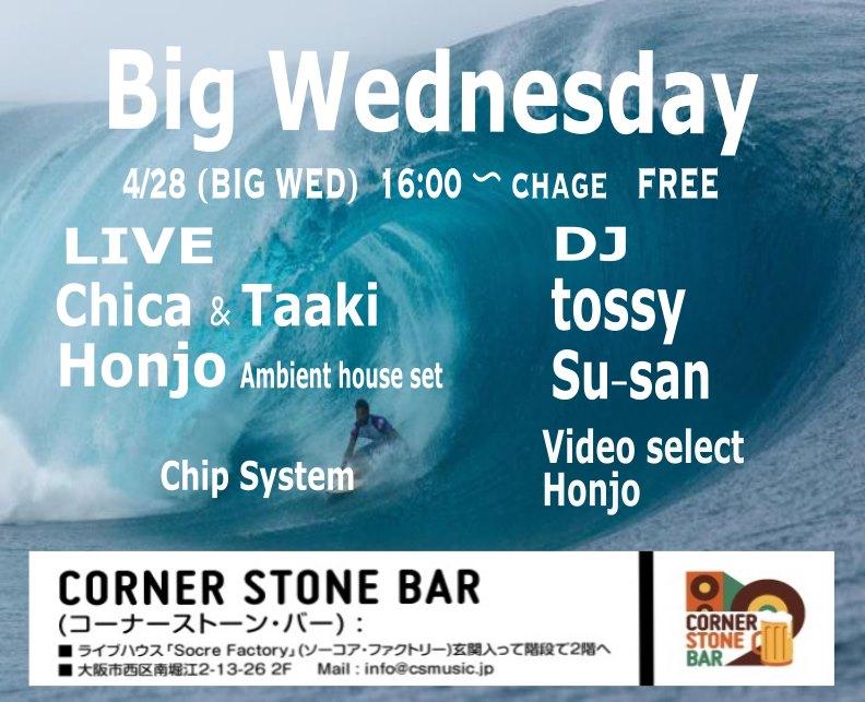 21.4.28(祝前水)Big Wednesday@Corner Stone Bar